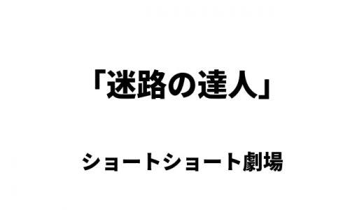 迷路の達人(ショートショート)