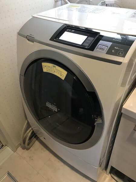 日立のドラム式洗濯乾燥機の写真