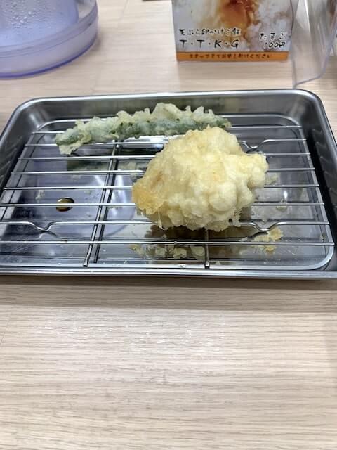 塊のような天ぷら