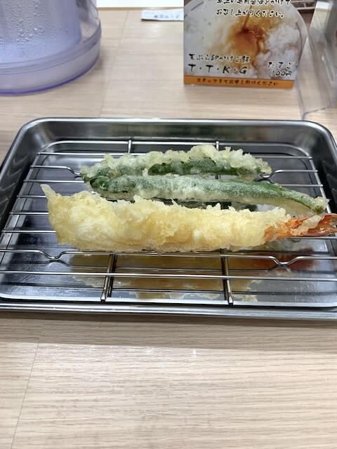 野菜と海老の天ぷら
