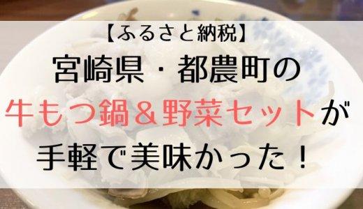 【ふるさと納税】宮崎県・都農町の牛もつ鍋&野菜セットが手軽で美味かった!